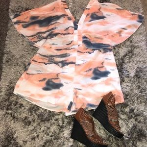 NWOT Lace Up Romper by Shein Sz 3X